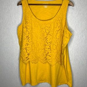Lane Bryant tank top with lace overlay size 18/20